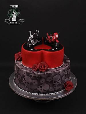 Biker wedding - Cake by Twister Cake Art