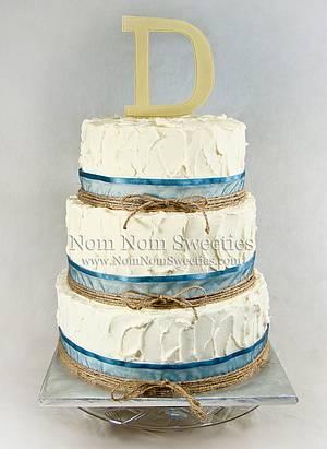 Rustic Messy Wedding Cake - Cake by Nom Nom Sweeties