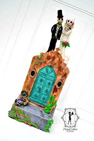 Sugar Skulls Collaboration - La Catrina Wedding Cake - Cake by PrimaCristina
