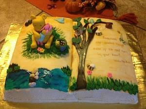 Classic Winnie The Pooh -Sometimes The Smallest Things Take Up The Most Room In Your Heart - Cake by beth78148