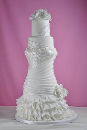 Wedding Dress Cake - Cake by Sandra Monger