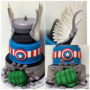 Avengers  - Cake by With Love & Confection