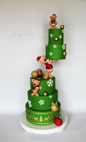 Christmas teddy cake  - Cake by Dmytrii Puga