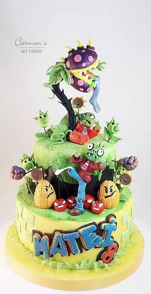 Zombie vs Plants - Cake by Carmen Iordache