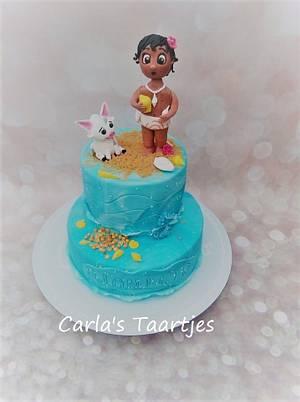 Moana and Pua - Cake by Carla