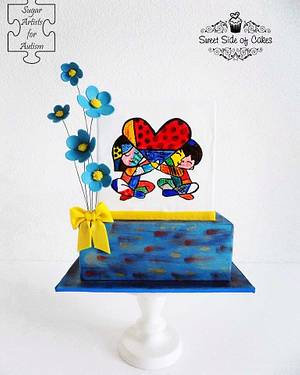 Love & Joy - @SugarArt4Autism collaboration - Cake by Sweet Side of Cakes by Khamphet