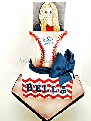 Softball, Jenny Finch, and Chevron Birthday - Cake by Ann-Marie Youngblood
