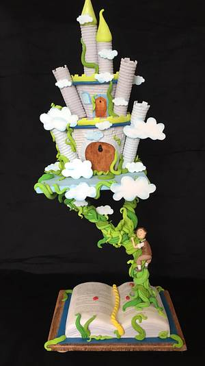 """Children´s Classic books Sweet Collaboration """"Jake and the Magic Beans"""" - Cake by Tortascarolinaf"""