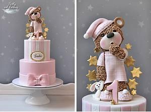Drowsy Teddy Bear - Cake by Lorna