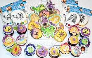 Tangled Themed Birthday Set - Cake by Isabelle (Cotati Sugar Mamas)