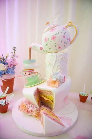 My own Wedding Cake! - Cake by Jayne Worboys