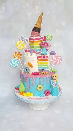 Trolls cake - Cake by Vanilla Iced