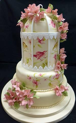 Bird cage cake - Cake by Galatia