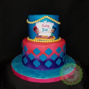 Shimmer and shine - Cake by Tee Tee's Sweets