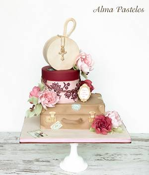 Vintage suitcase cake - Cake by Alma Pasteles