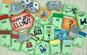 Monopoly Birthday Cookies - Cake by CookiesByCourtney