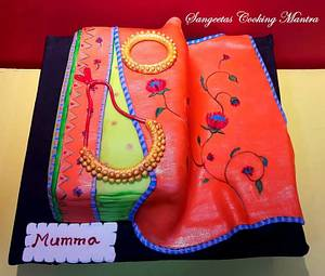 Paithani Saree cake - Cake by Sangeeta Roy Ghosh