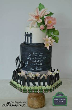 My Best Friend's Garden - Best friends Collaboration - Cake by Mila - Pure Cakes by Mila