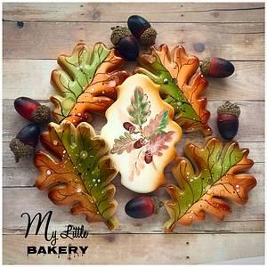 """Oak leaves - Cake by Nadia """"My Little Bakery"""""""