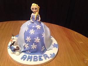 Elsa Frozen Cake - Cake by Sarah's Crafty Cakes