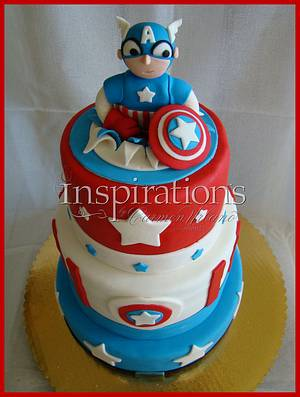 Capitan America Cake - Cake by Inspiration by Carmen Urbano