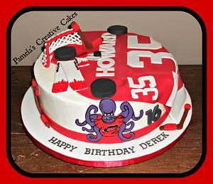 Redwings 16th Birthday - Cake by Pamela Sampson Cakes