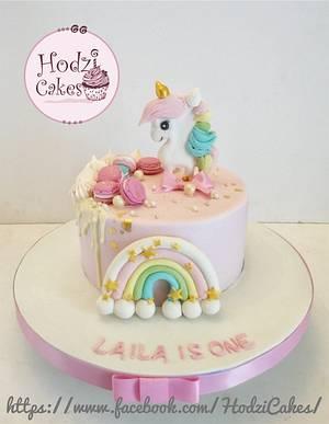 Pink Unicorn Girlish Cake  - Cake by Hend Taha-HODZI CAKES