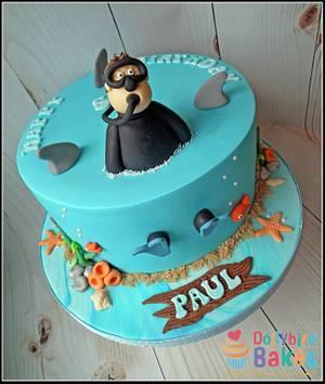 Scuba themed cake - Cake by Dollybird Bakes