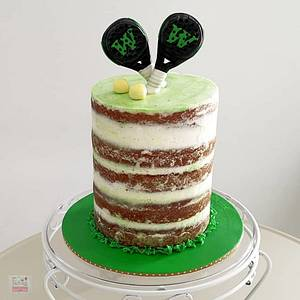 Anniversary Cake - Padel / Sports - Cake by Unique Cake's Boutique