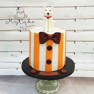 Puppy - Cake by Hopechan