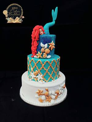 PDCA caker buddies collaboration: children's bed time stories : little mermaid - Cake by Lachocolaterie