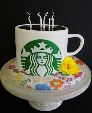 Starbucks Mug - Cake by Connie Adkins