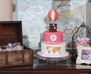 Vintage around the world cake - Cake by Vanilla bean cakes