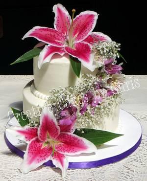 Stargazer Wedding - Cake by Creative Cakes by Chris