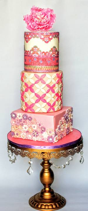 Pretty in Pink - Cake by Prabjoth