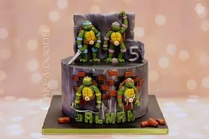 Turtle Ninja - Cake by Nimitha Moideen