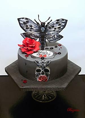 Butterfly death - Cake by Zuzana Bezakova