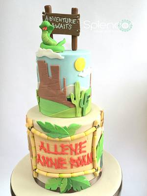Little Adventurers - Cake by Ellen Redmond@Splendor Cakes