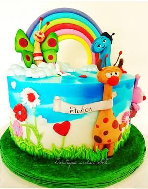 Baby tv themed cake - Cake by DDelev