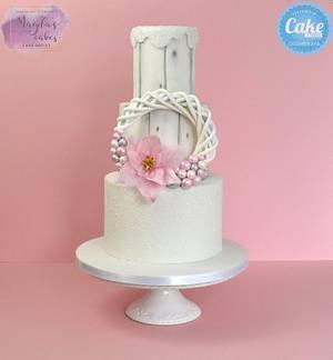 Christmas wreath cake - Cake by Magda's Cakes (Magda Pietkiewicz)