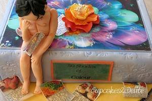 The Thinker in Colour - Cake by Cupcakes2Delite