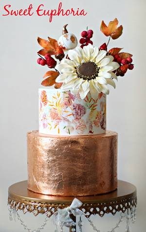 Autumn Sunflower - Cake by Sweet Euphoria NY