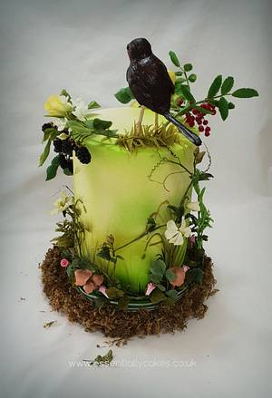 The 1 Collaboration - Autumn Garden - Cake by Essentially Cakes