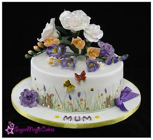 Flowers for mum ♡ - Cake by SugarMagicCakes (Christine)