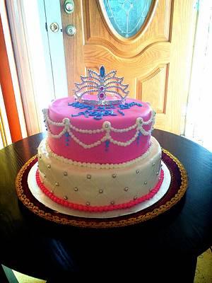 Princess 1st birthday cake - Cake by Emsspecialtydesserts