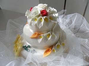 40 Wedding Anniversary cake - Cake by Clara
