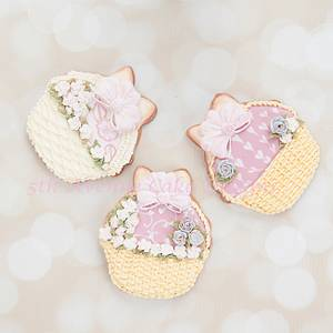 Floral Basket Cookies with 3 Different Designs - Cake by Bobbie