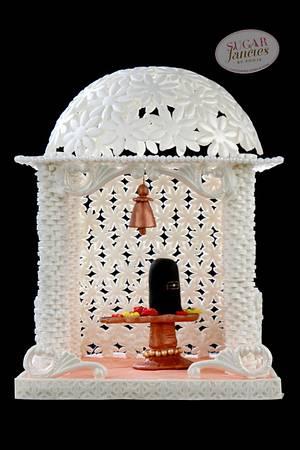 "INCREDIBLE INDIA COLLABORATION ""SHIVA TEMPLE"" - Cake by SugarfanciesbyPooja"