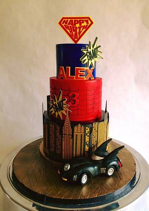 Super hero cake - Cake by Antonio Balbuena