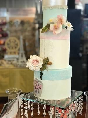Rosas y orquídeas  - Cake by Griselda de Pedro